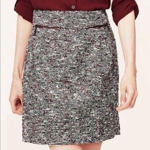 NWOT Loft Tweed high waisted skirt